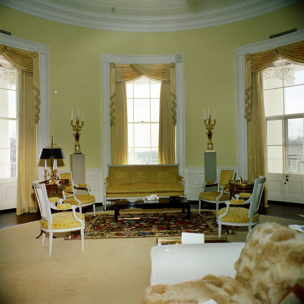 Kn C19847 Yellow Oval Room White House John F Kennedy