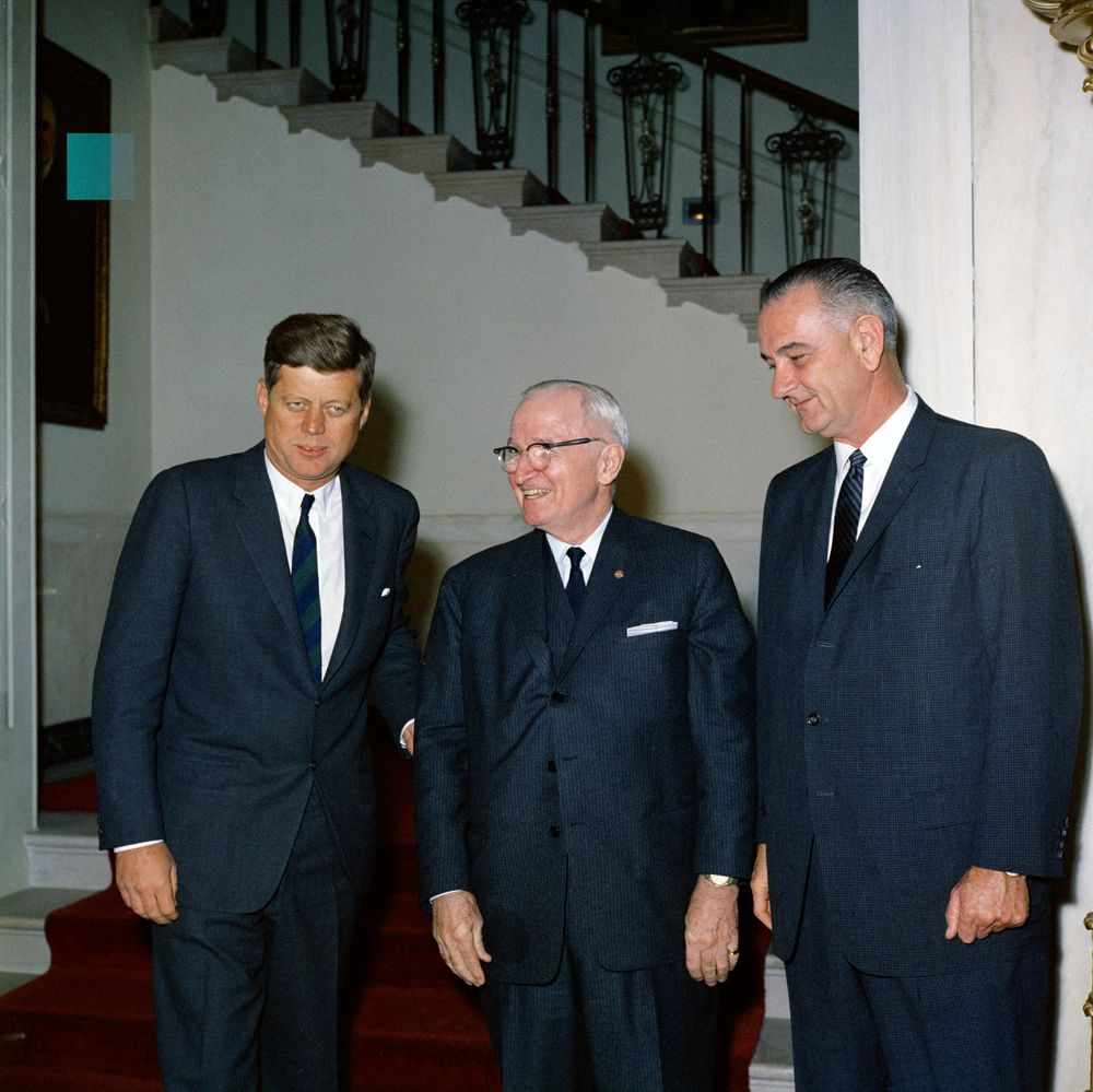KN-C19919. President John F. Kennedy and Vice President Lyndon B ...