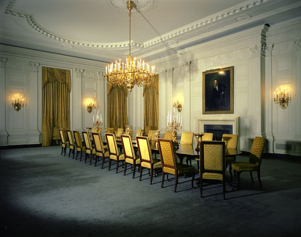 White House Rooms Red Green Monroe Treaty State