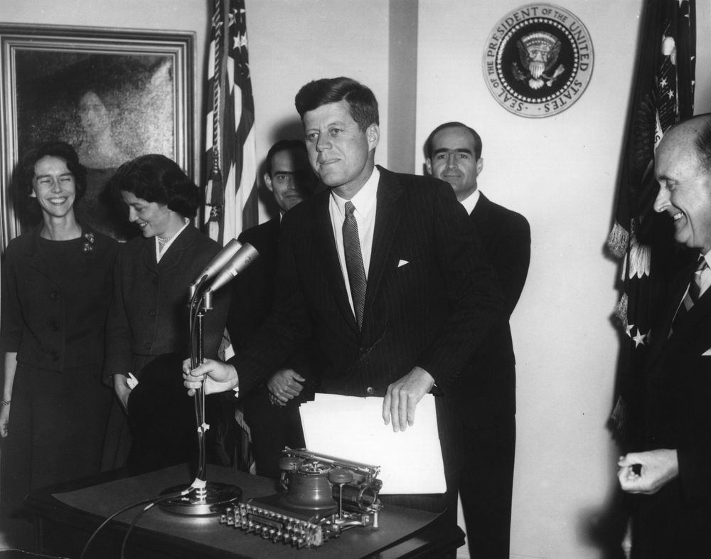 president john f kennedy essay Free essay: abraham lincoln vs john f kennedy president assassinated that has been a headline in the papers four times in the history of the united states.