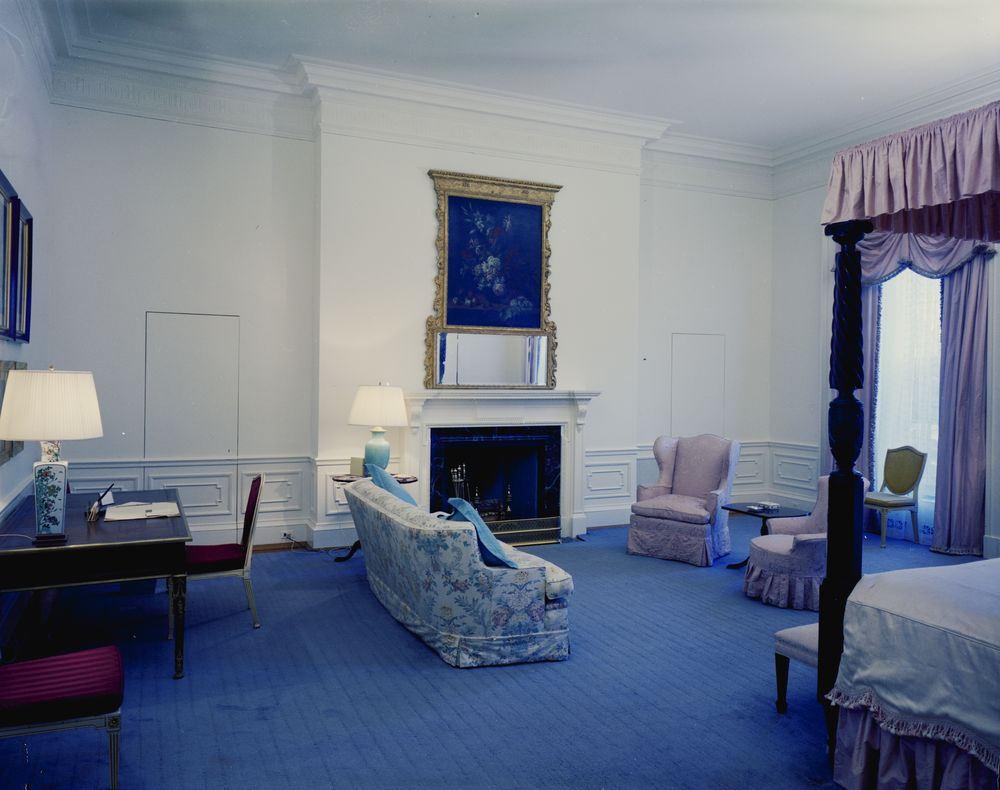 White House Rooms: Queens' Bedroom, President's Dining Room, West ...
