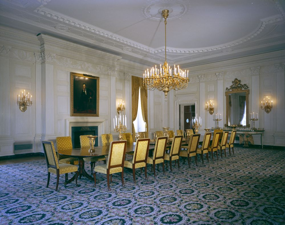 White house rooms state dining room john f kennedy presidential white house rooms state dining room dzzzfo