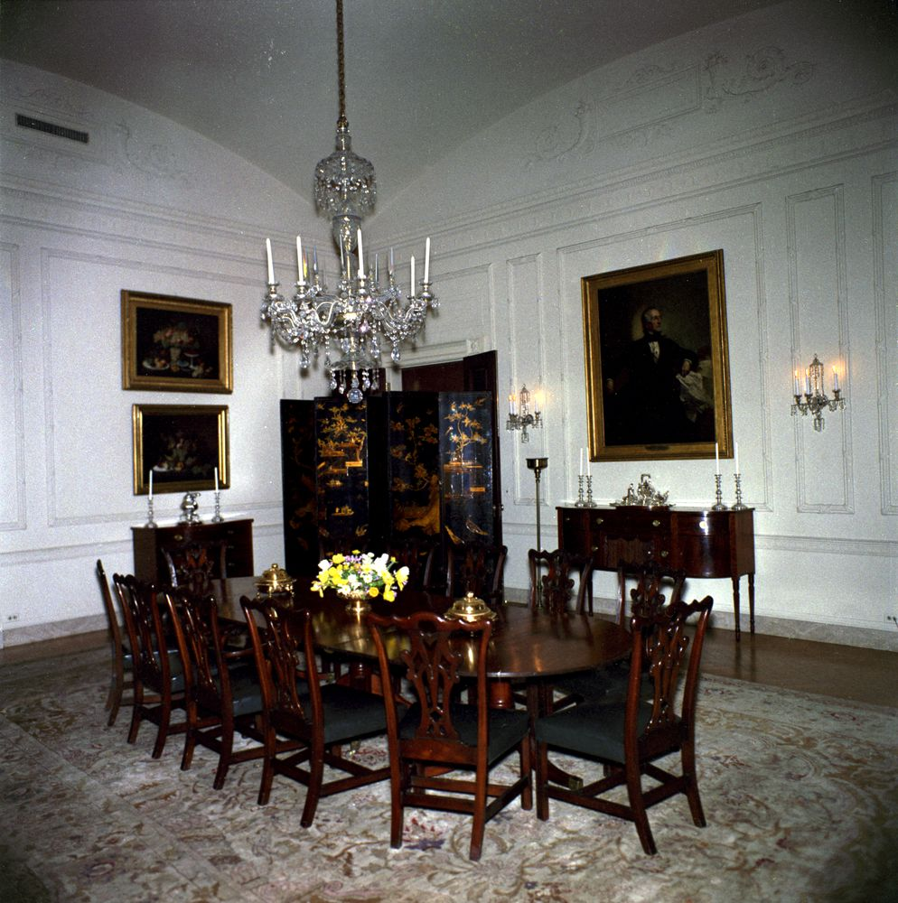 White House Rooms Family Dining Room John F Kennedy