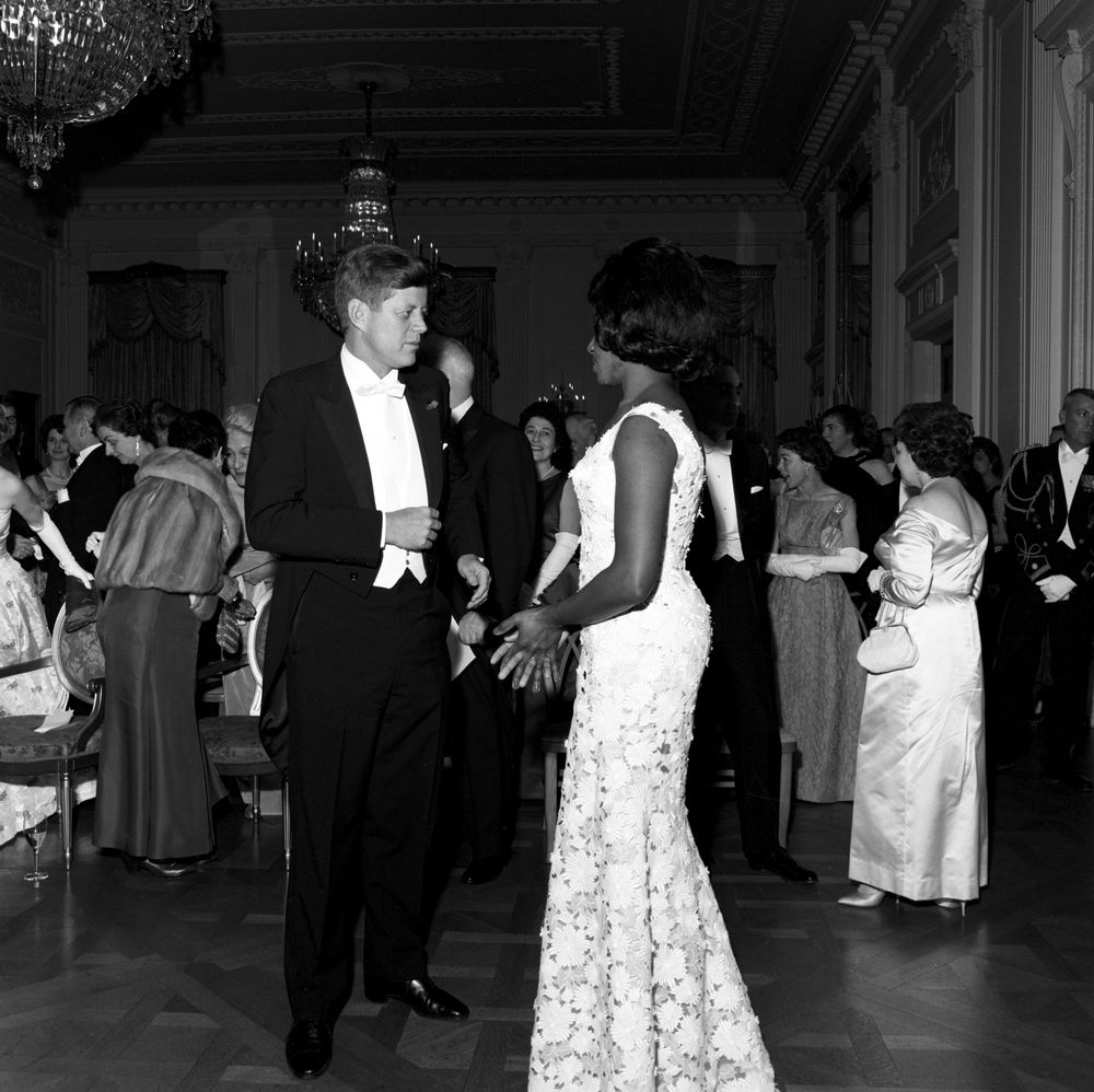 White Trash In The White House Talks Education: ST-249-13-62. President John F. Kennedy With Opera Singer