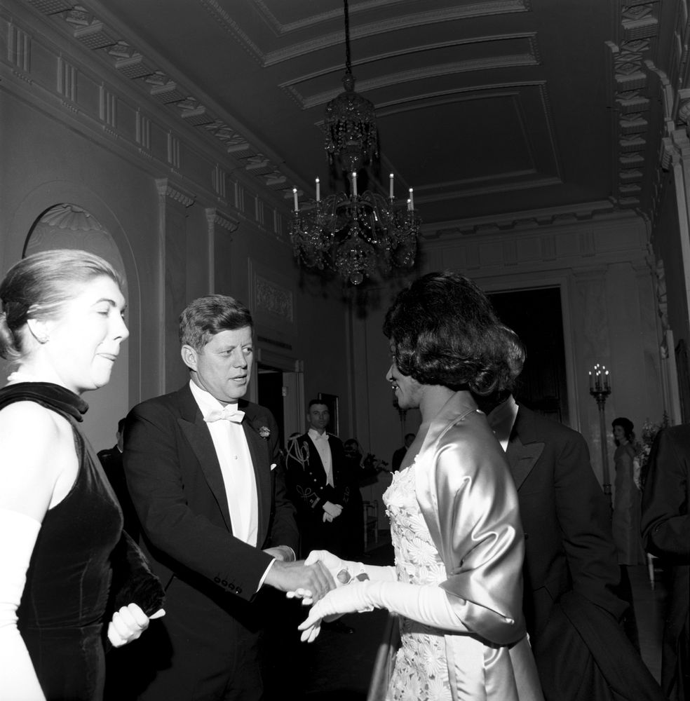 White Trash In The White House Talks Education: ST-249-16-62. President John F. Kennedy With Opera Singer