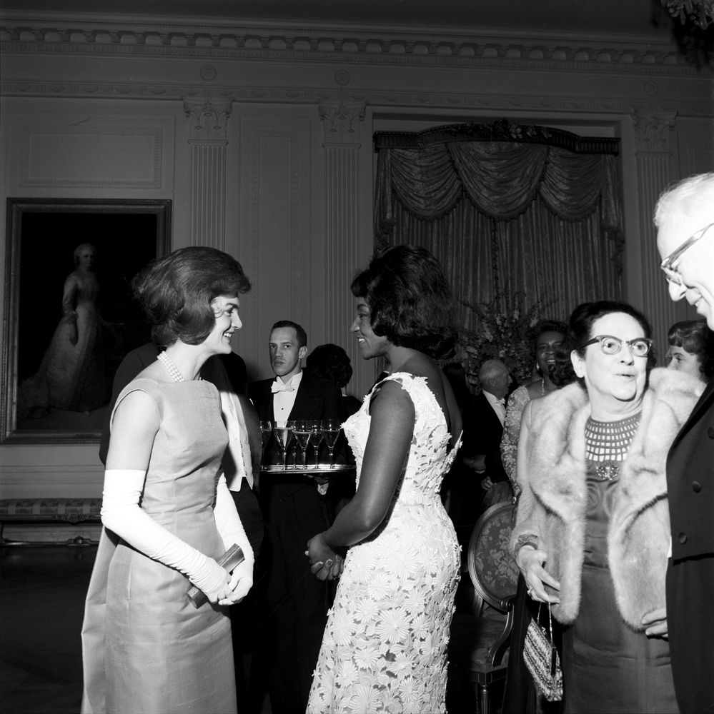 ST-249-4-62. First Lady Jacqueline Kennedy with Opera Singer Grace ...