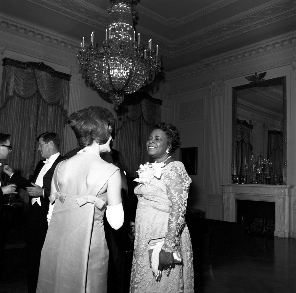 White Trash In The White House Talks Education: ST-249-5-62. First Lady Jacqueline Kennedy With Dr. Rosa