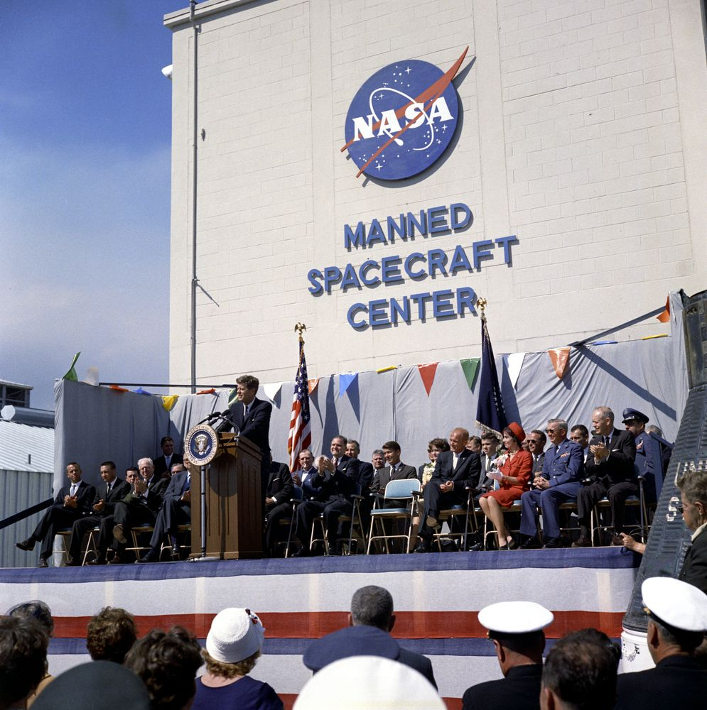 KN-C20247. President John F. Kennedy Delivers Remarks Upon ...