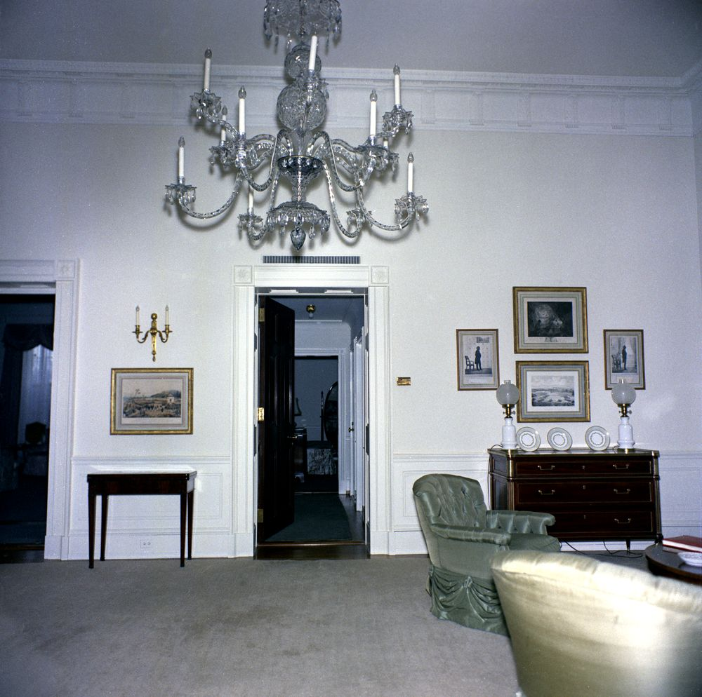 White house rooms east sitting room john f kennedy presidential library museum - White sitting rooms ...