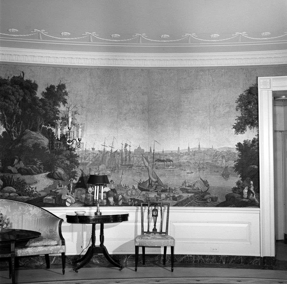white house rooms  diplomatic reception room  antique