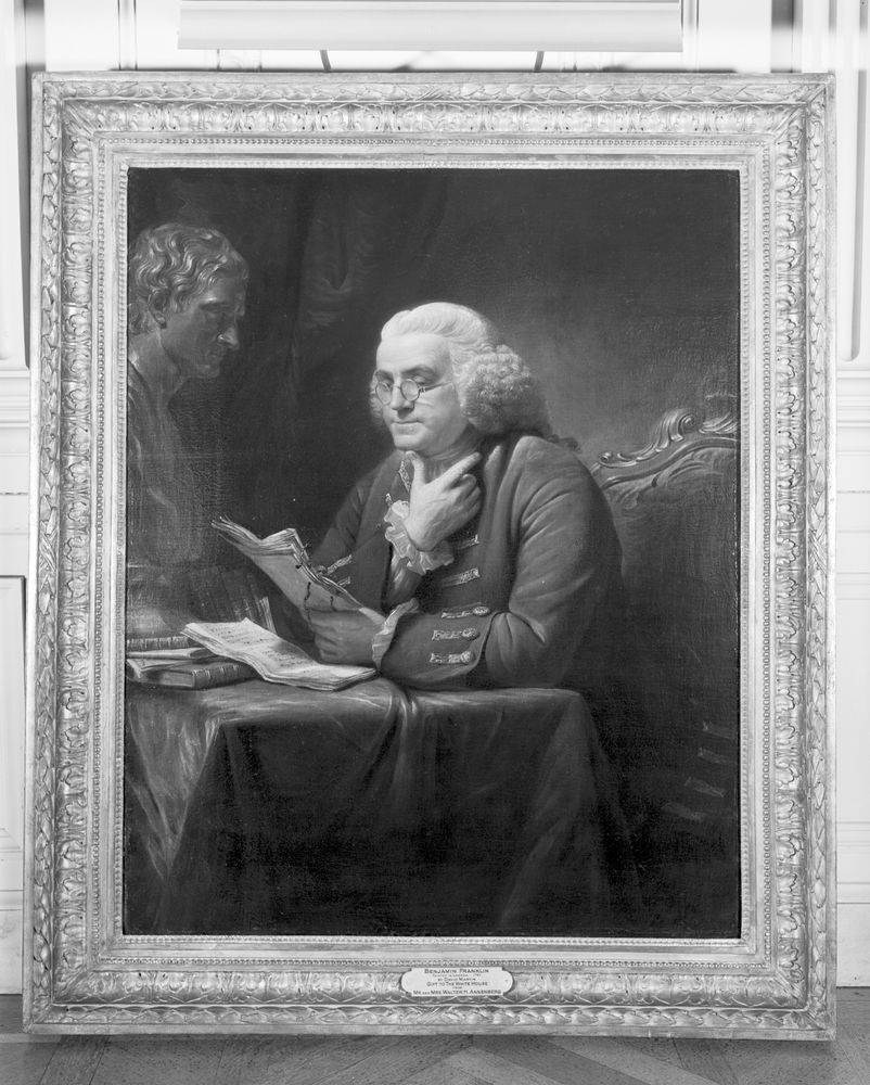 white house paintings benjamin franklin by david martin  view parent collection and finding aid