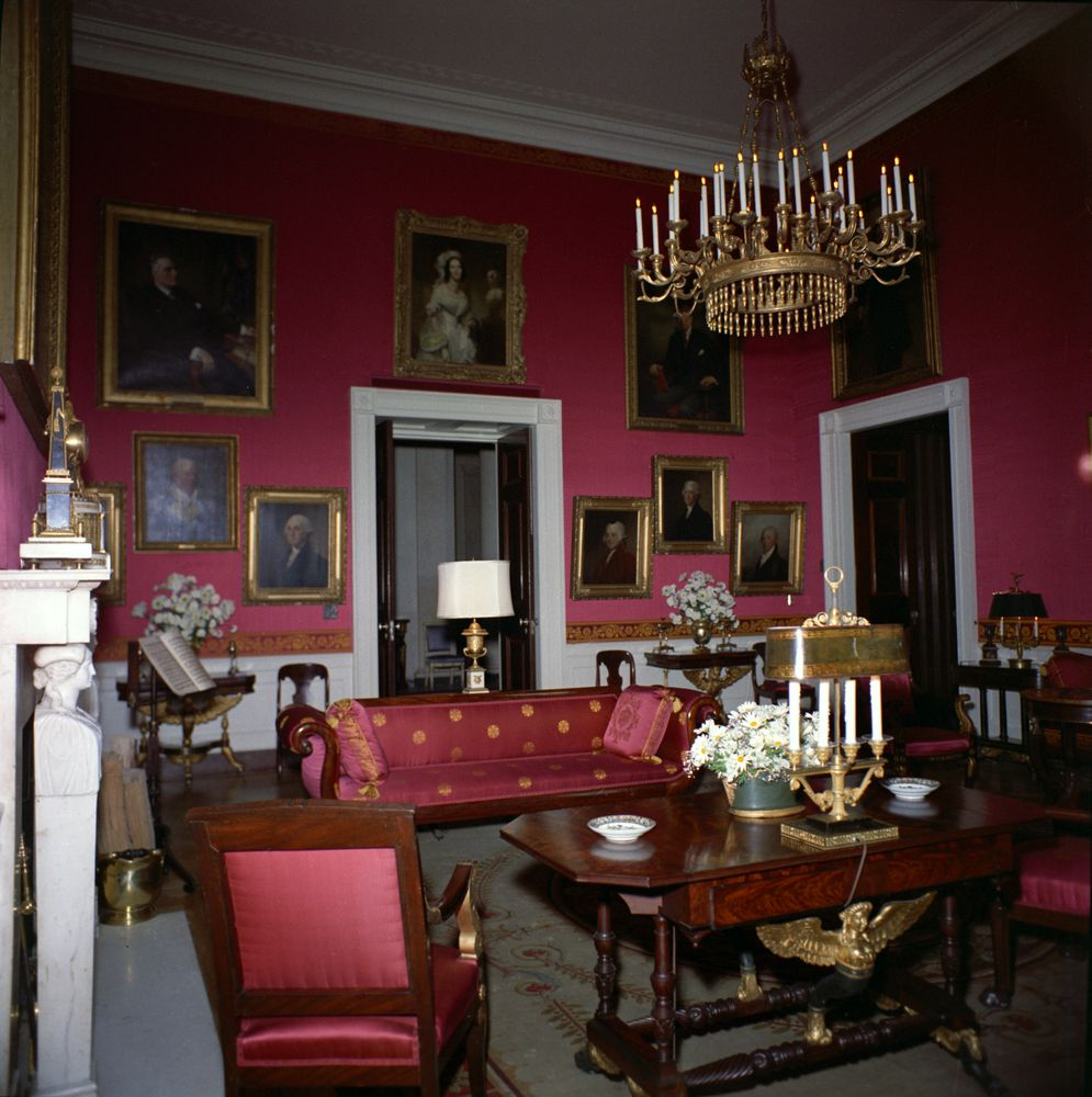 Red Room: KN-C20442. Red Room Of White House