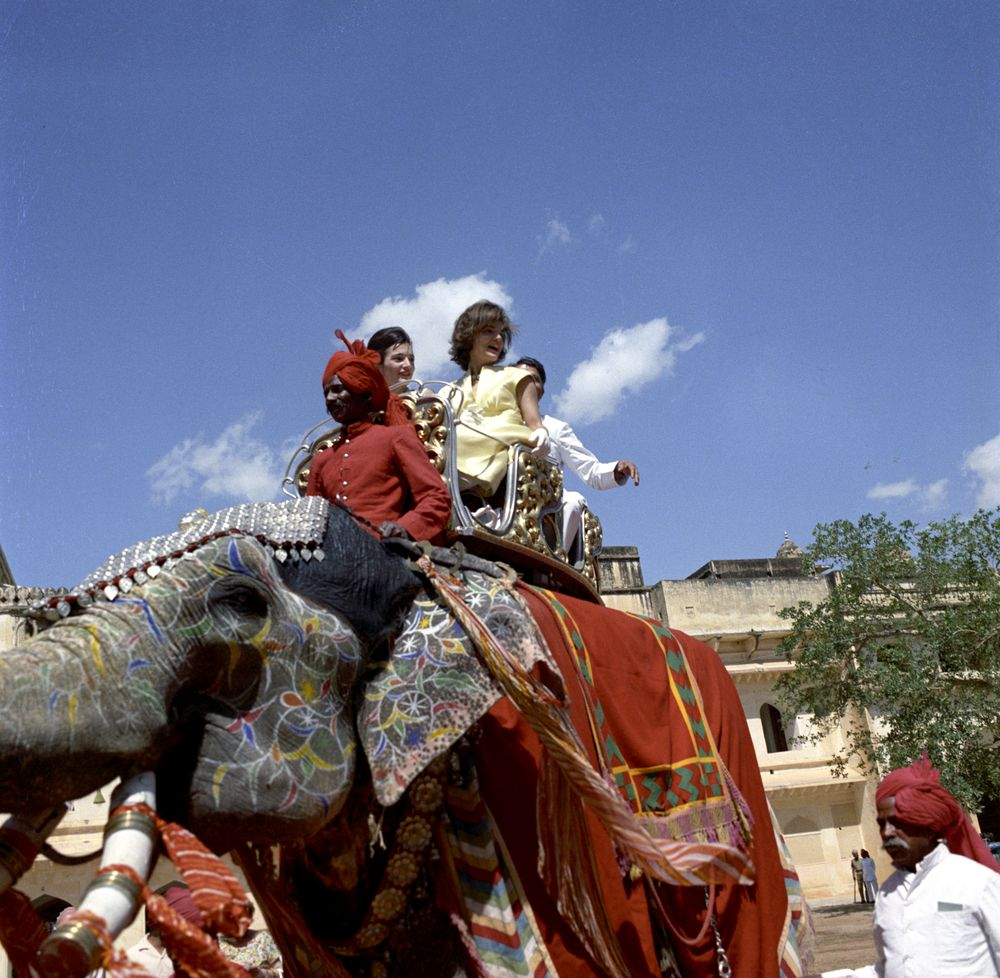 ST-C117-44-62. First Lady Jacqueline Kennedy Rides