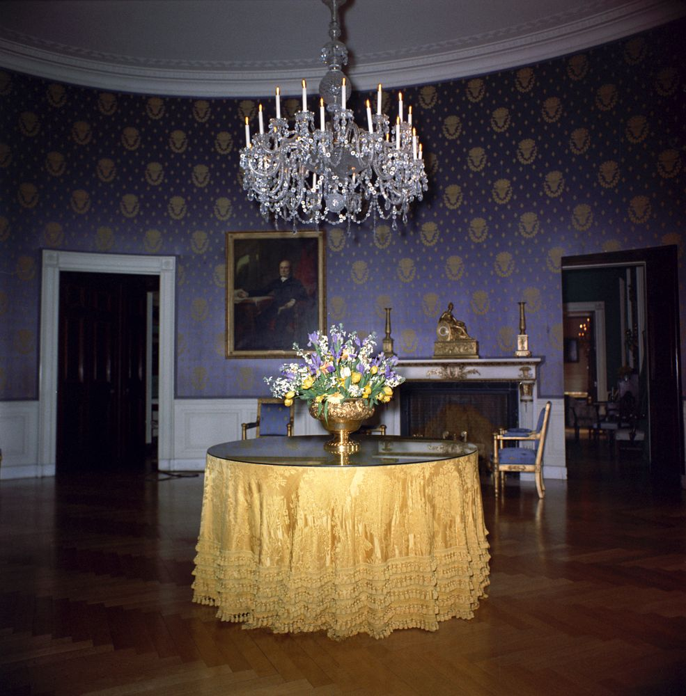 Blue Room: White House Rooms: Blue Room, Floral Arrangement