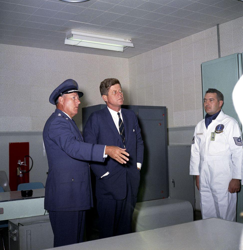 president john f kennedy tours vandenberg air force base california