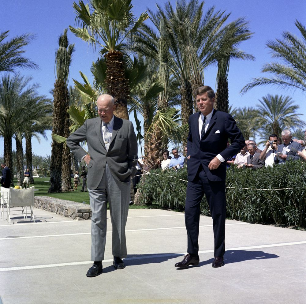 KN-C20734. President John F. Kennedy with Former President Dwight D ...