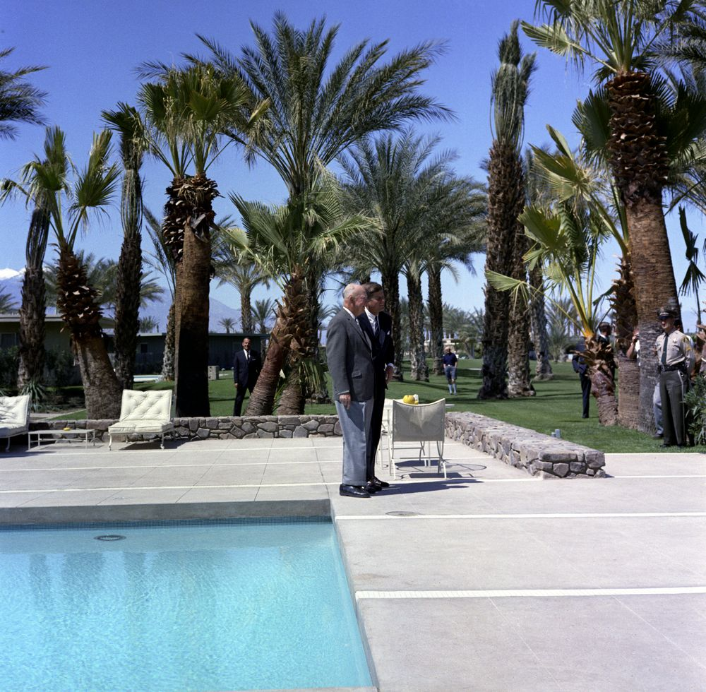 trip to california  palm springs  meeting with former