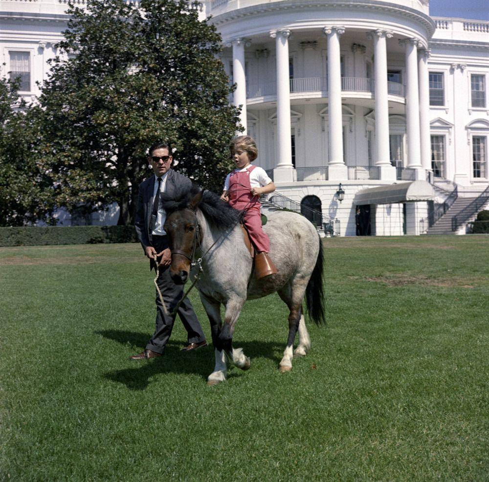 caroline kennedy  cbk  with her pony  u0026quot macaroni u0026quot