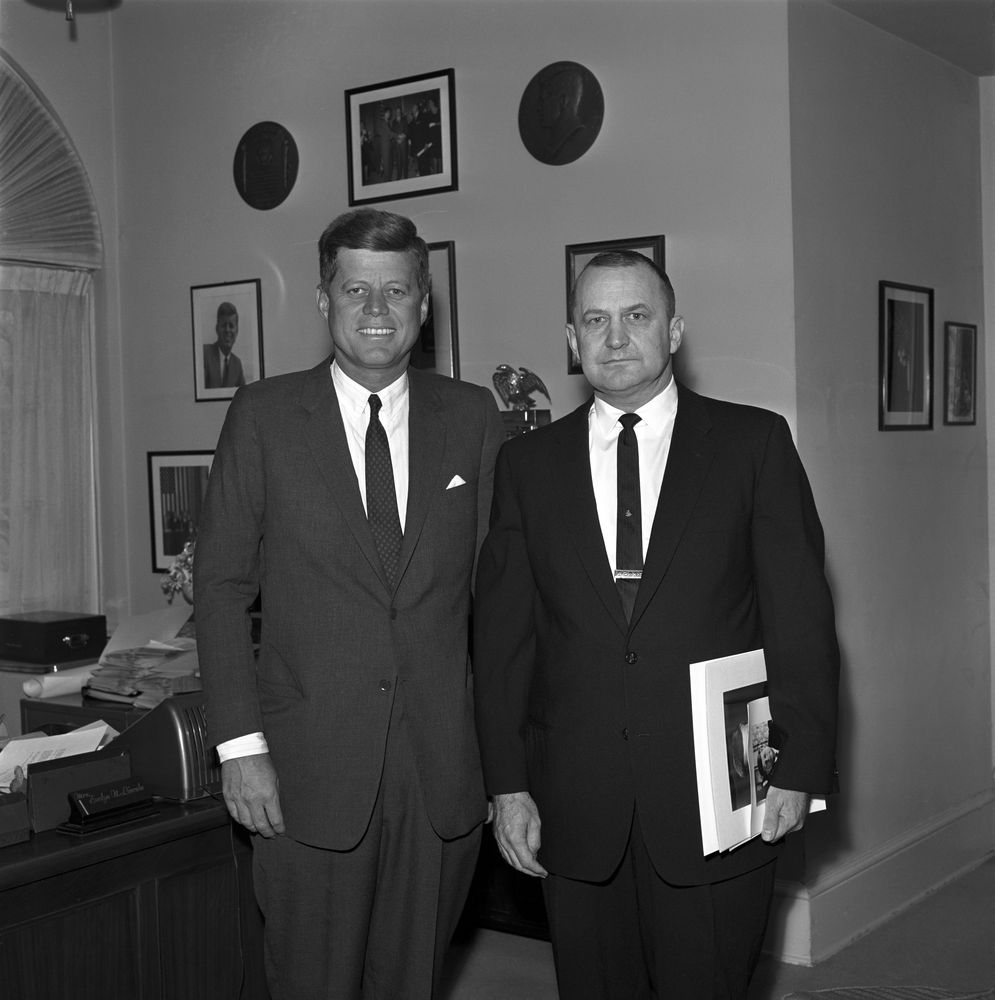 President Kennedy with personal friends, Mr. Cecil Sanders and Mr ...