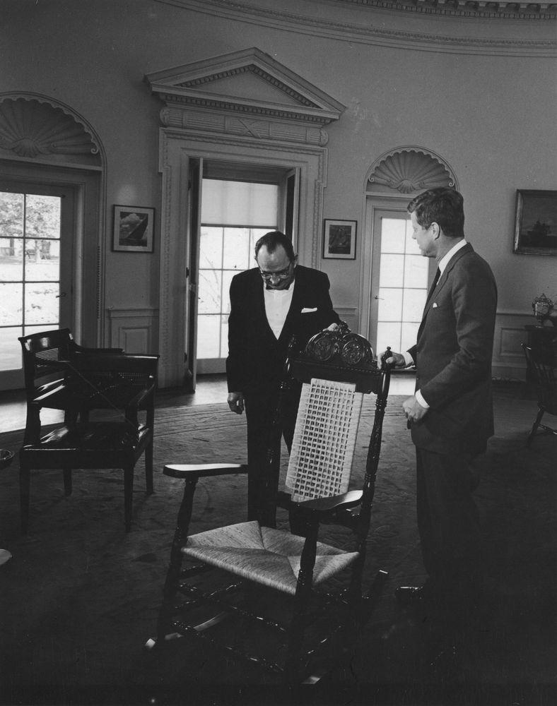 ... Rocking Chair to President John F. Kennedy - John F. Kennedy