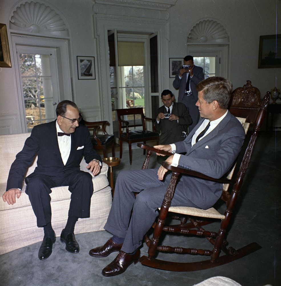John F. Kennedy Tries Out New Rocking Chair - John F. Kennedy ...