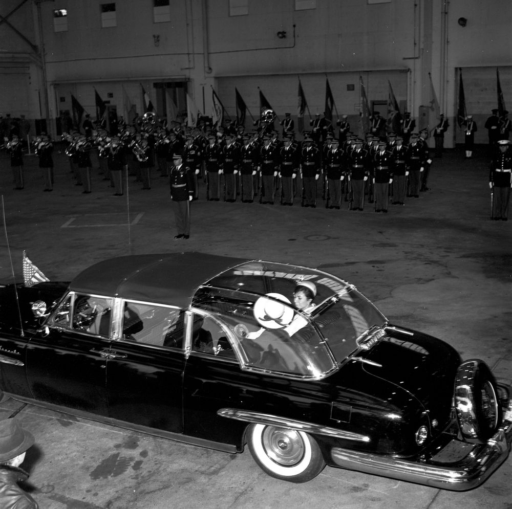Kn 20917 Motorcade In Arrival Ceremonies For The Shah Of