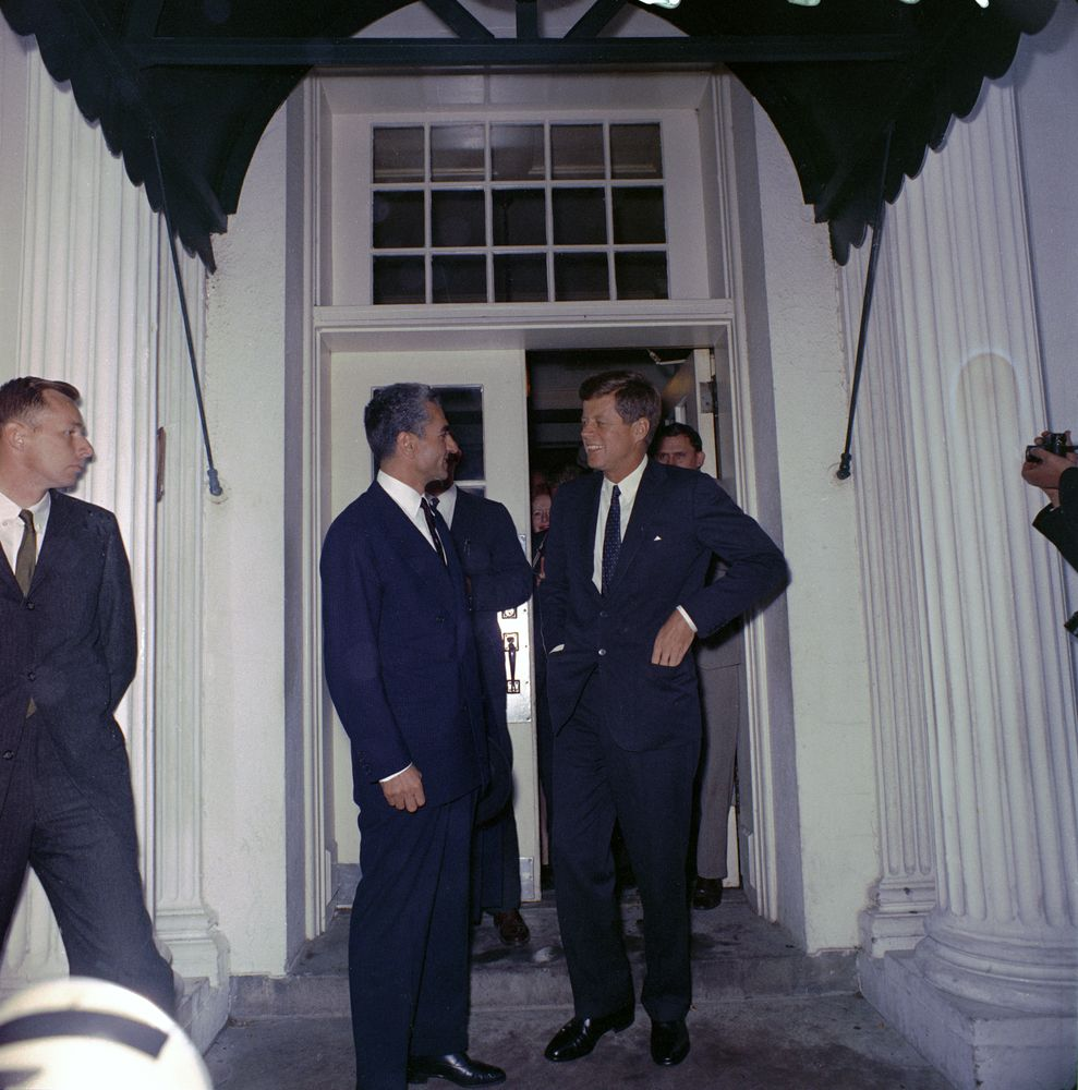 meeting with the shah of iran  mohammad reza shah pahlavi