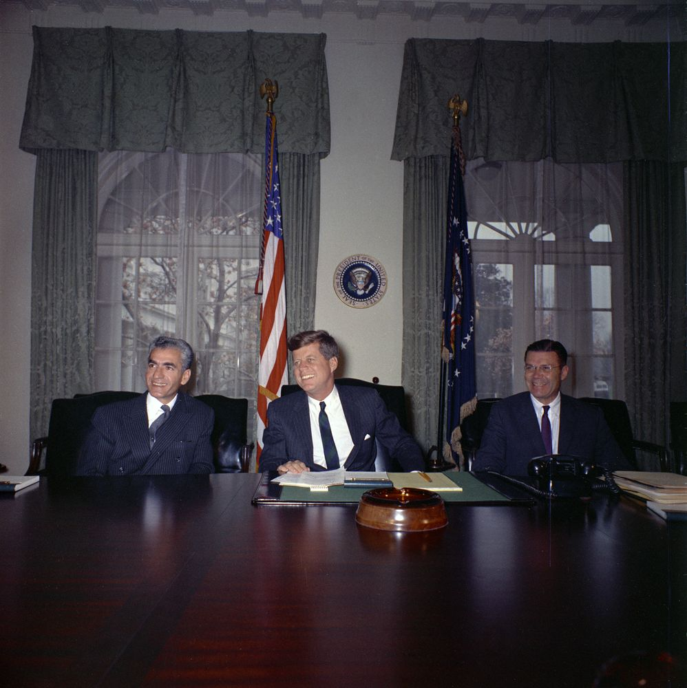 Kn C21066 President John F Kennedy Meets With The Shah