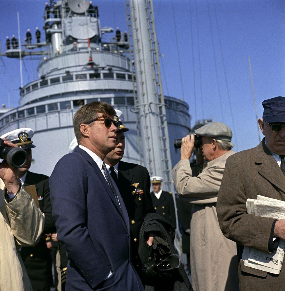 Visit To The Atlantic Fleet President Kennedy Aboard Uss