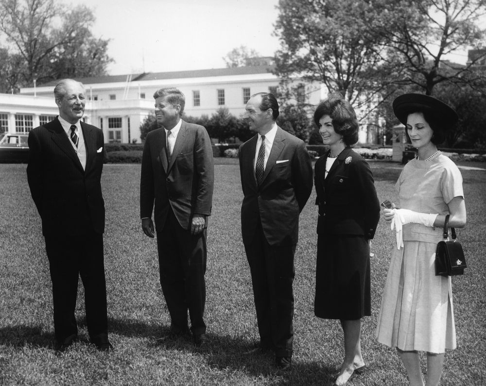 ... John F. Kennedy with Prime Minister of Great Britain, Harold Macmillan