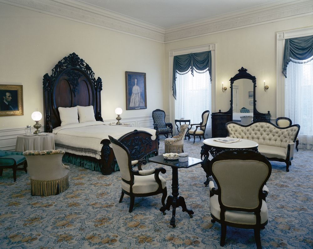 Lincoln Bedroom. KN C21316  Lincoln Bedroom   John F  Kennedy Presidential Library