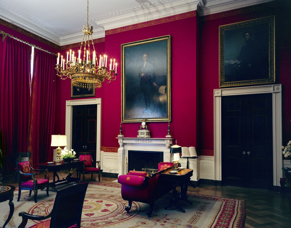 White House Rooms Red Room President S Bedroom Sitting