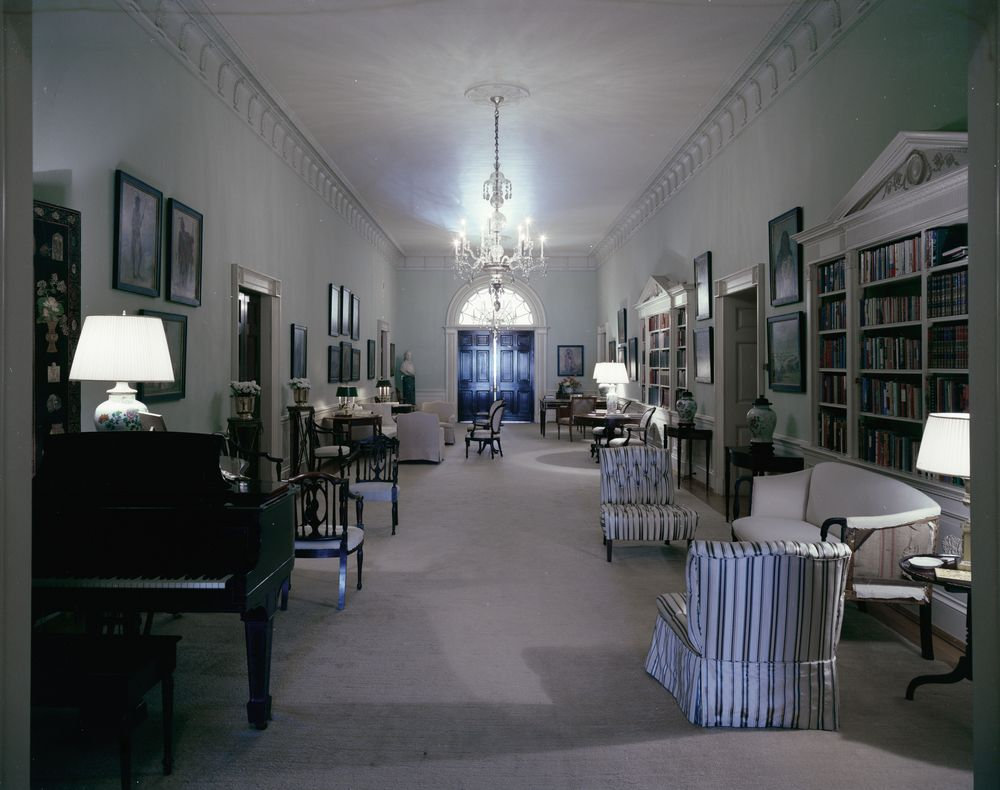 White House Rooms: Ground Floor Hall, Entrance Hall