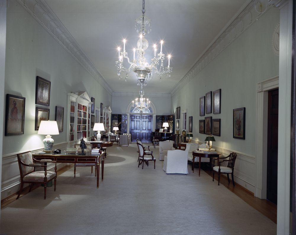 Students Sitting On The Floor >> White House Rooms: Ground Floor Hall, Entrance Hall ...