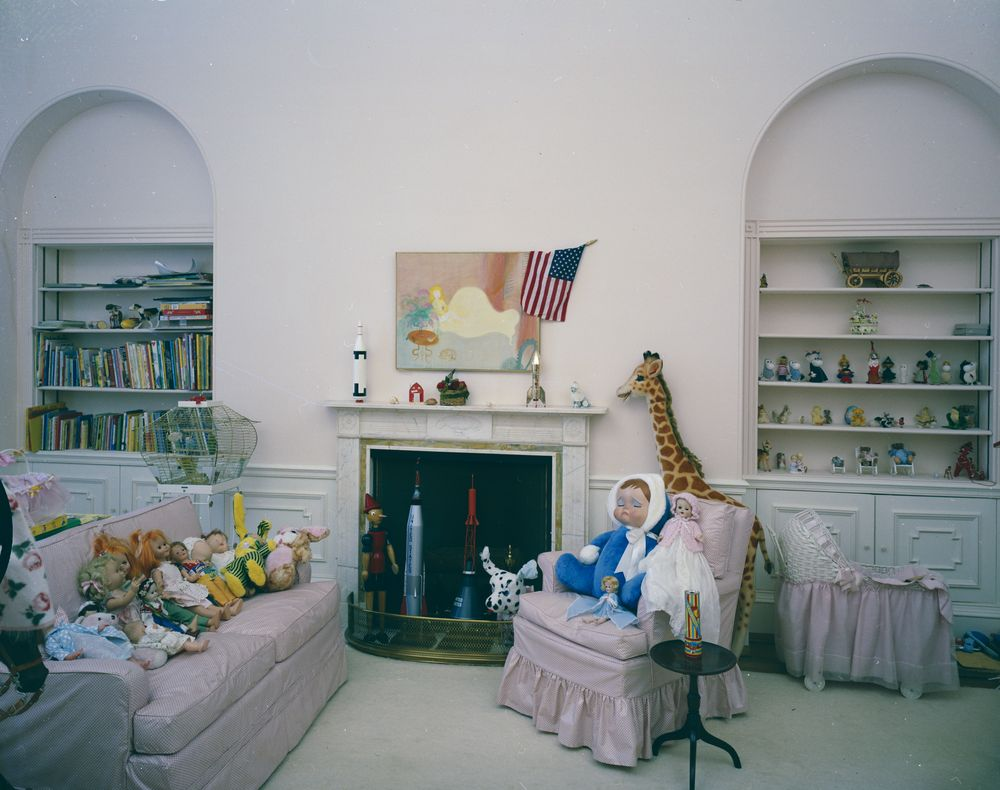 KN-C21450. Caroline Kennedy's Bedroom in the White House