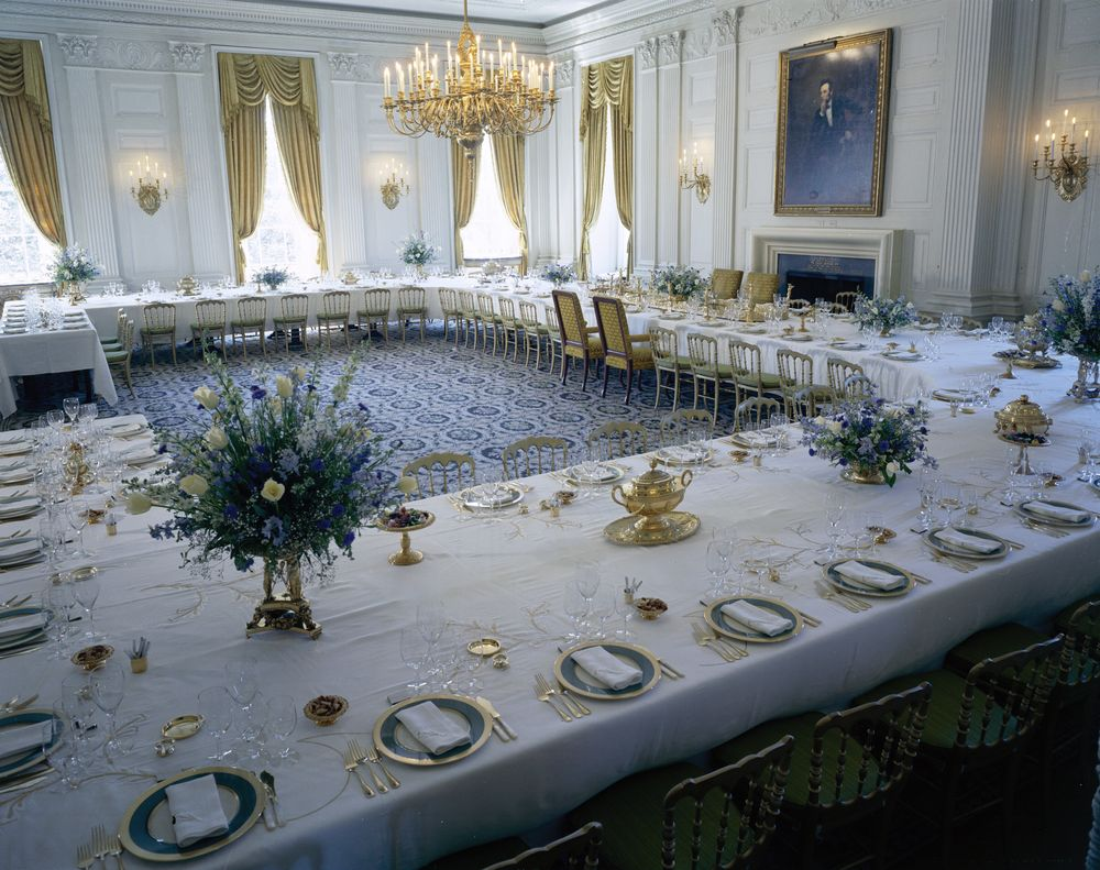White House Rooms: Vermeil Room, State Dining Room, Red Room, First ...