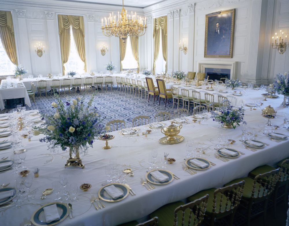 White House Rooms Vermeil Room State Dining Room Red
