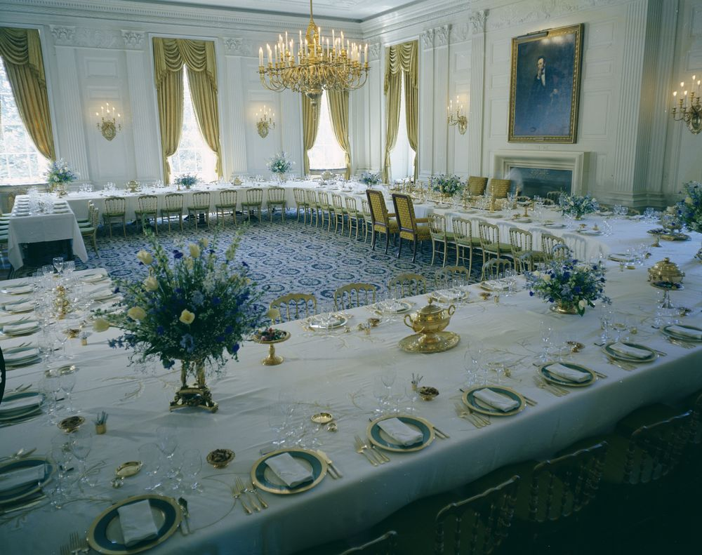 White House Rooms: Vermeil Room, State Dining Room, Red ...