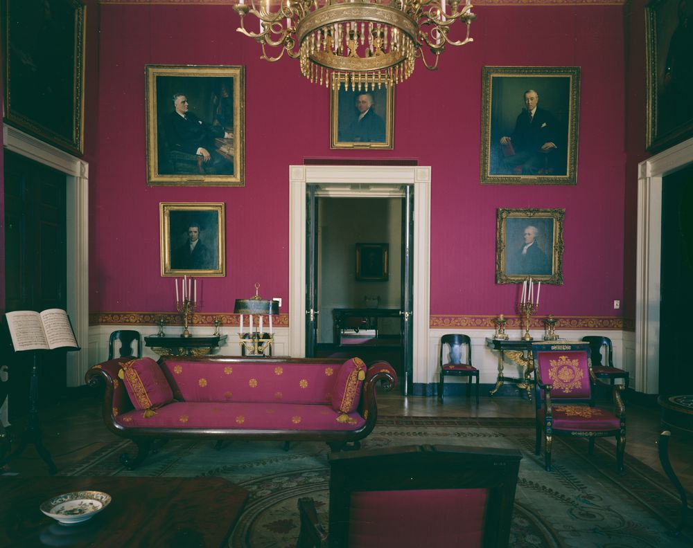Rooms: White House Rooms: Vermeil Room, State Dining Room, Red