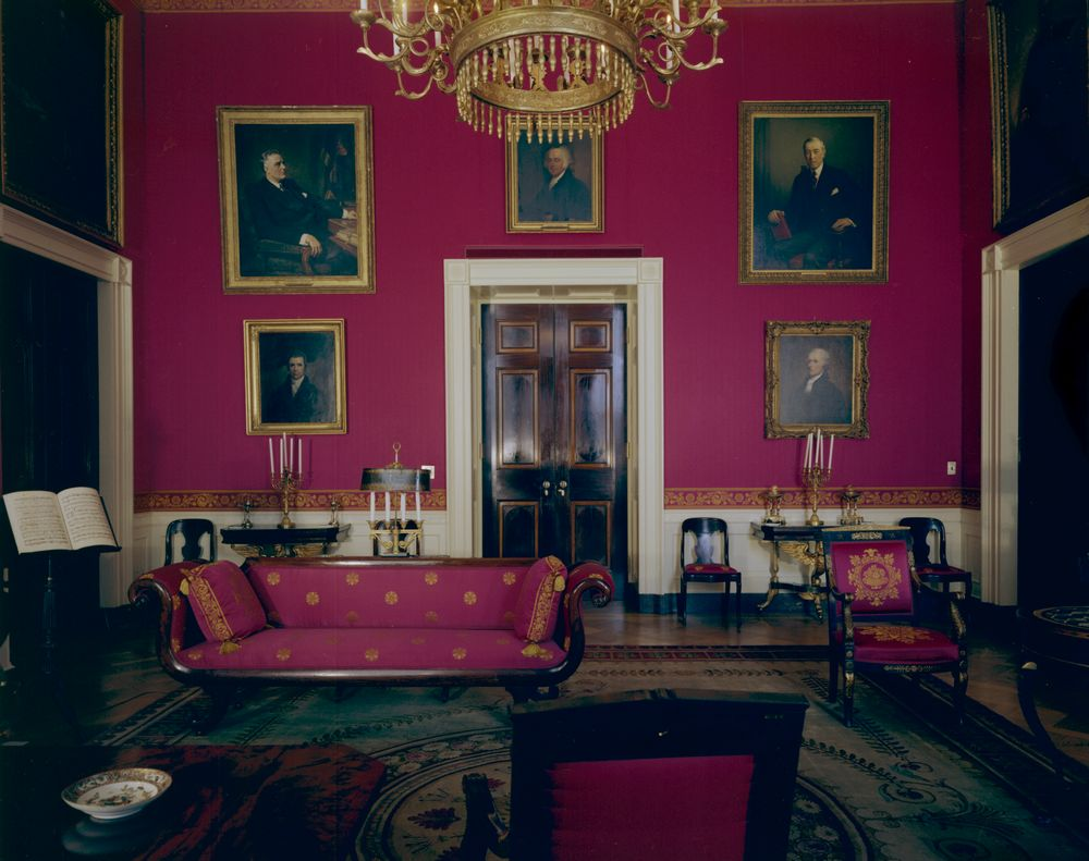 white house rooms: vermeil room, state dining room, red room