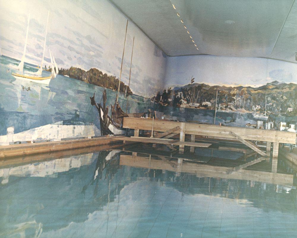 ST-C174-16-62  White House Swimming Pool Mural ProgressWhite House Swimming Pool