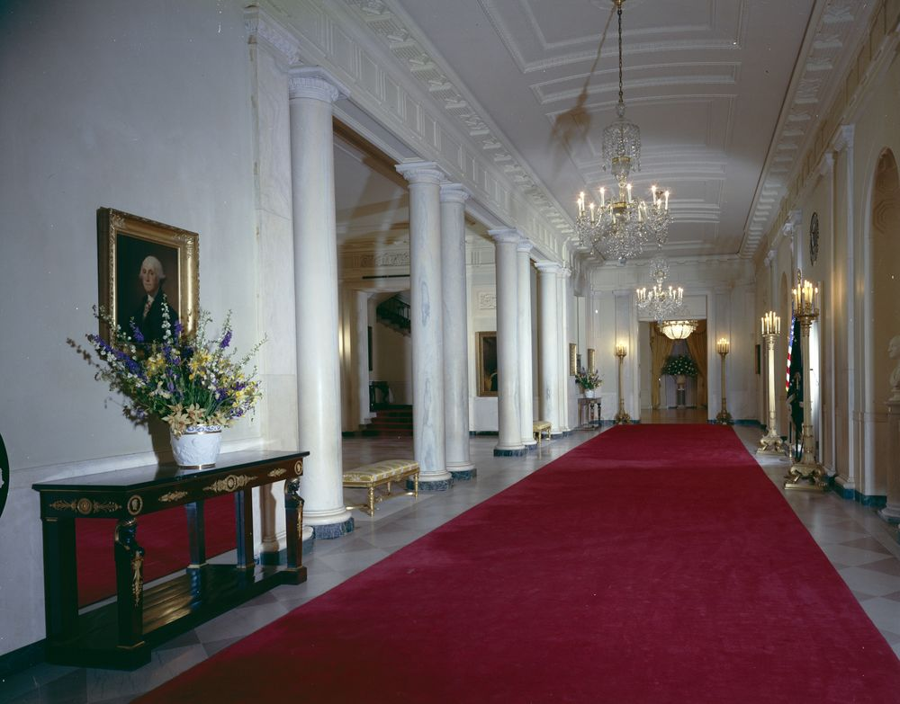 white house rooms  state dining room  cross hall  east