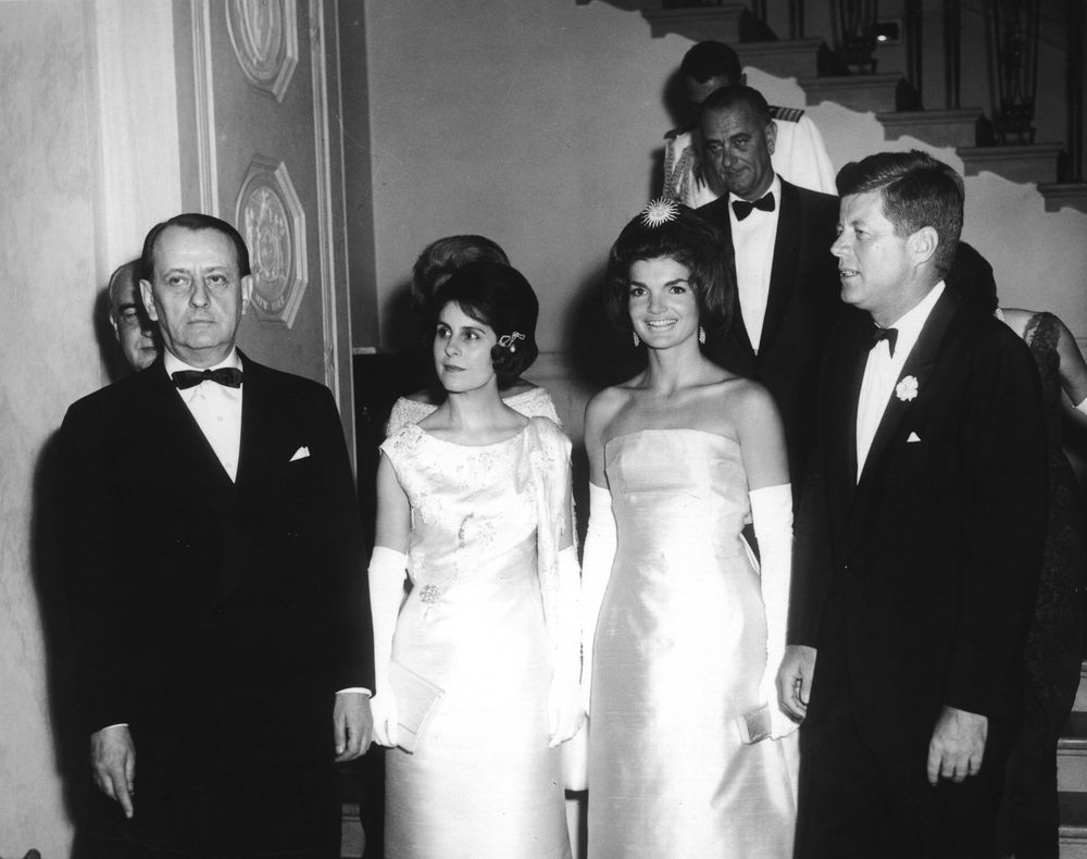 Bloggers Join In Welcoming U S Cultural Affairs Officers: AR7229-C. President John F. Kennedy Attends Dinner For