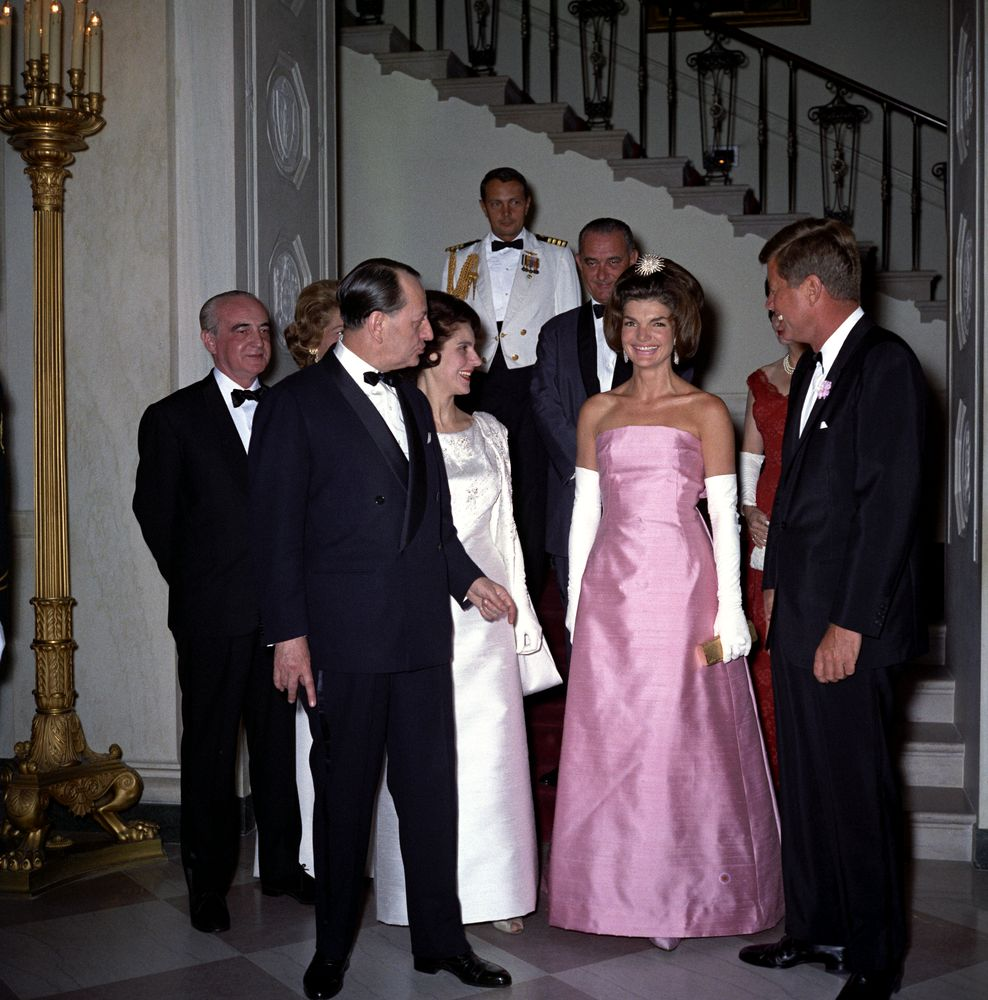 kn c21660 president john f kennedy attends dinner for minister president john f kennedy attends dinner for minister of state for cultural affairs of andreacute malraux