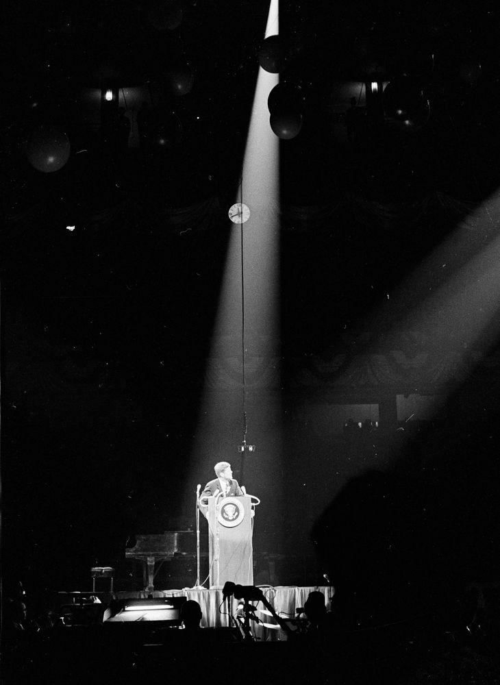 St 212 4 62 President John F Kennedy Attends Birthday Salute At Madison Square Garden John F