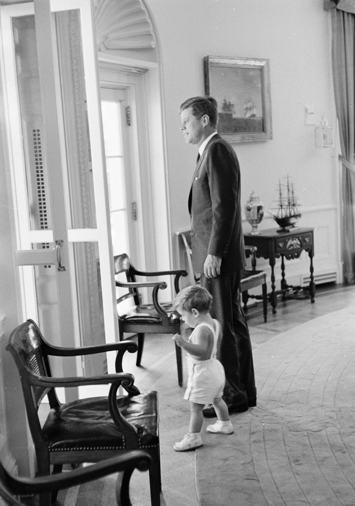 The White House Office Of Press >> President Kennedy with John F. Kennedy, Jr. (JFK, Jr.) - John F. Kennedy Presidential Library ...