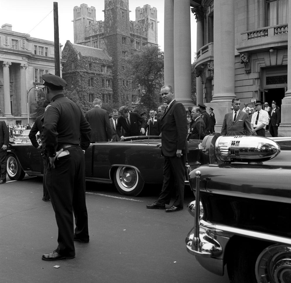 ST-268-23-62. President John F. Kennedy Departs Yale