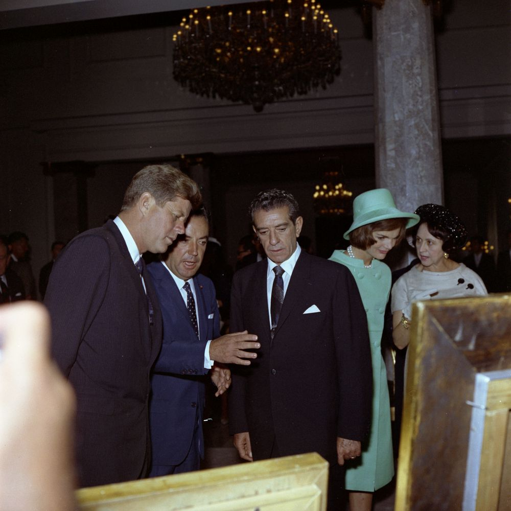 KN-C22591. President John F. Kennedy with President of Mexico, Adolfo ...