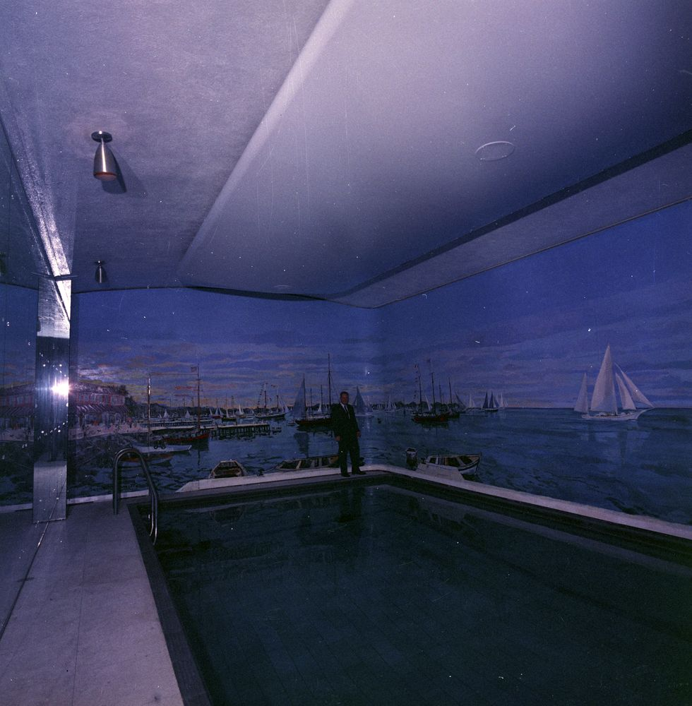 St c10 7 62 white house swimming pool john f kennedy presidential library museum for White house swimming pool history