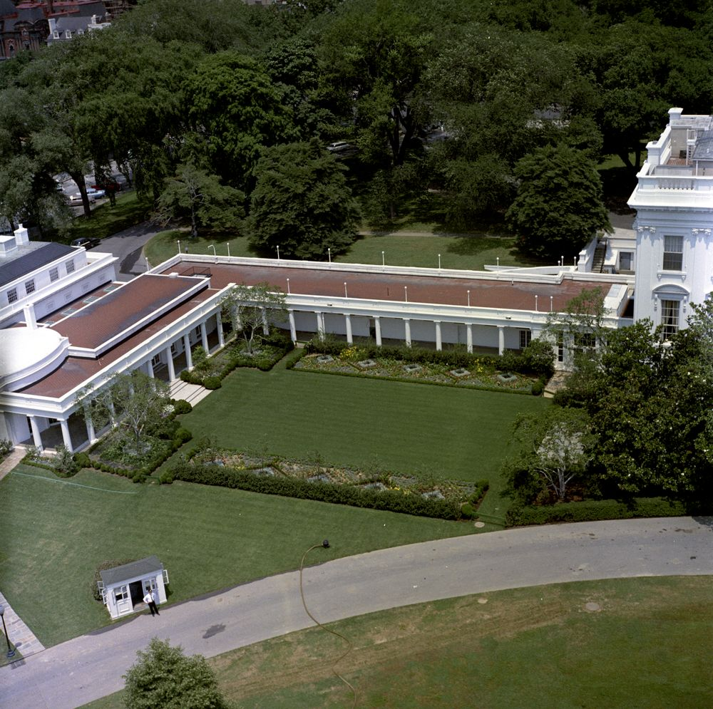 Aerial views of the rose garden jefferson memorial for The view house